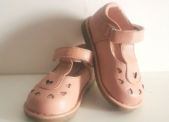 Salmon pink shoes