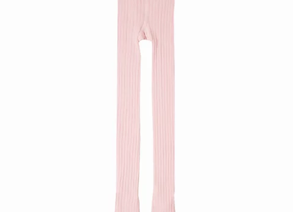 Newness pink ribbed tights