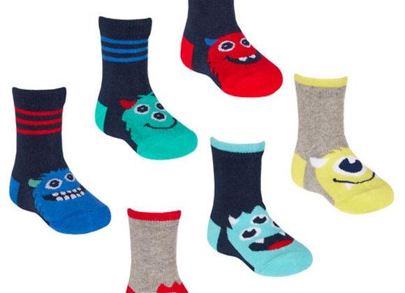 Little monster 3pk socks
