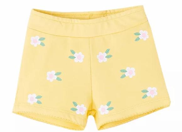 Newness yellow flower shorts