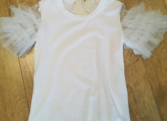 Frill sleeve white
