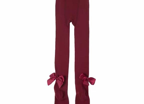 Newness maroon bow tights