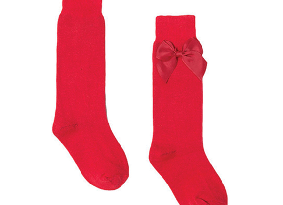 Newness red bow socks