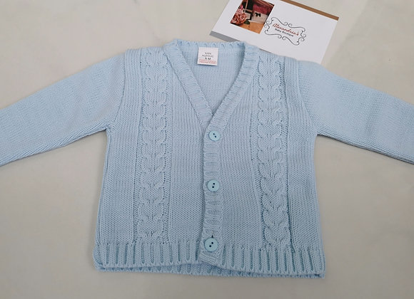 Baby blue cable knit cardigan