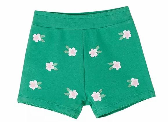 Newness green flower shorts