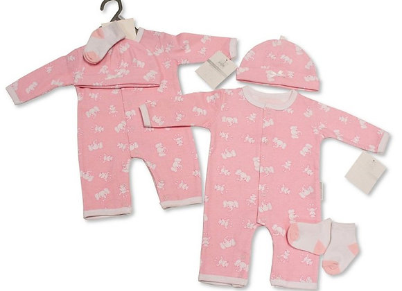 Pink animal print (3 piece set)