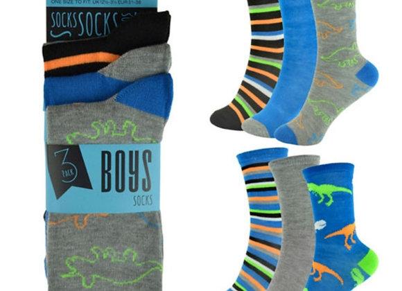 Dinosaur boys 3pk socks