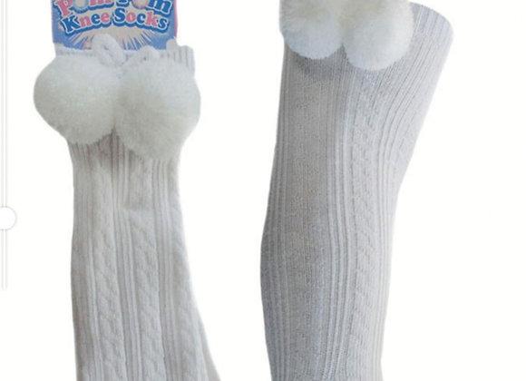 White double pom knee