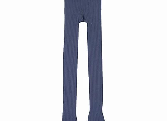 Newness blue ribbed tights