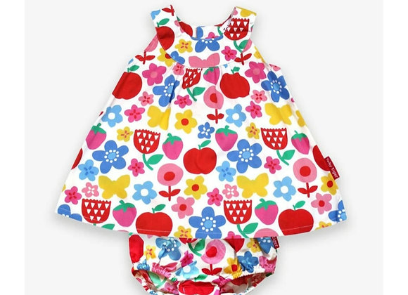 Toby tiger Butterfly Flower Print Baby Dress Set
