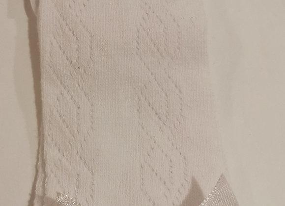 White bow long socks