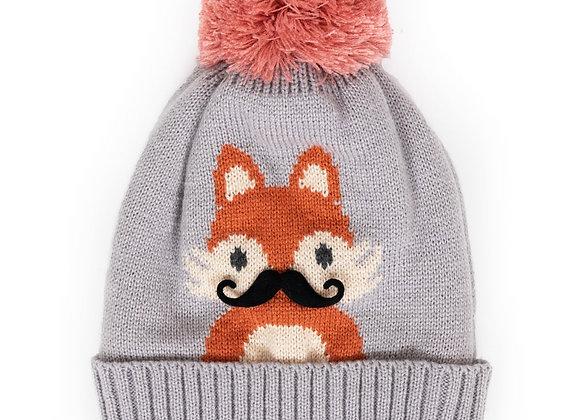 Grey foxy hat