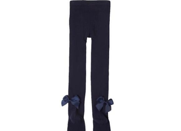 Newness navy bow tights