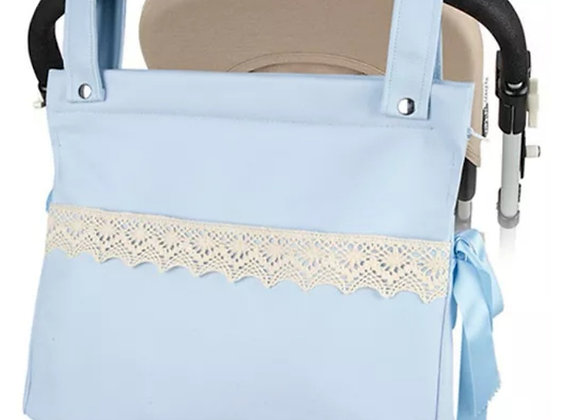 Baby blue pram bag