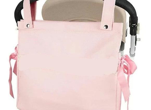 Pink pram bag