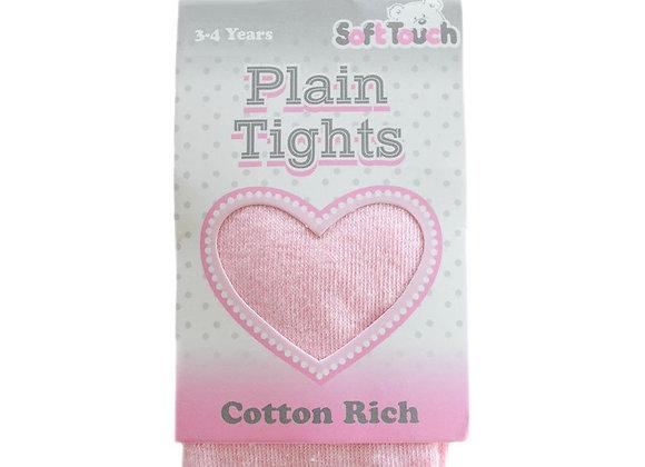 Cotton rich pink tights
