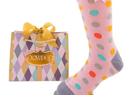 Candy spot ankle socks