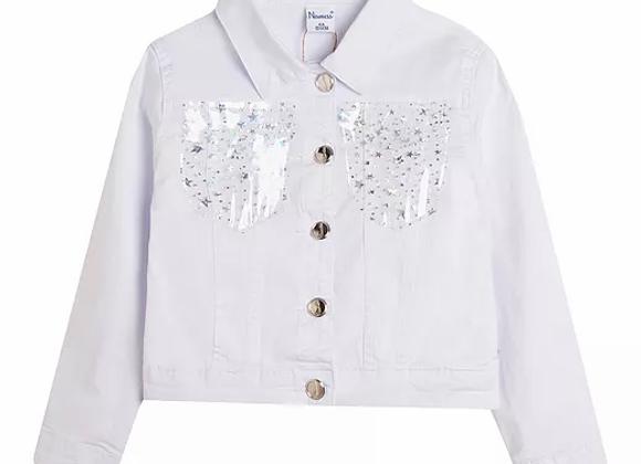 Newness white denim jacket