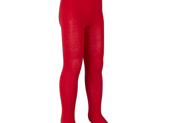 Plain red cotton rich tights