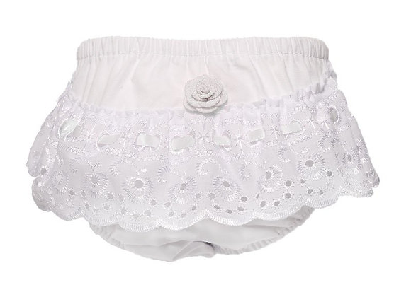 Frilly broderie pants