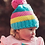Thumbnail: Blade & Rose pastel stripe bobble hat
