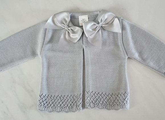 Bow grey cardigan