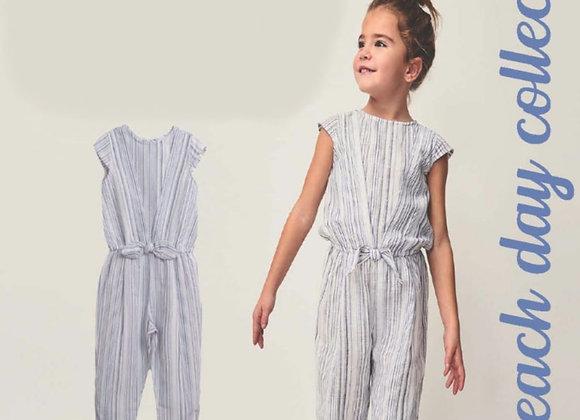 Newness stripe jumpsuit