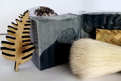 Lavender and activated charcoal Shaving-Soap Bar
