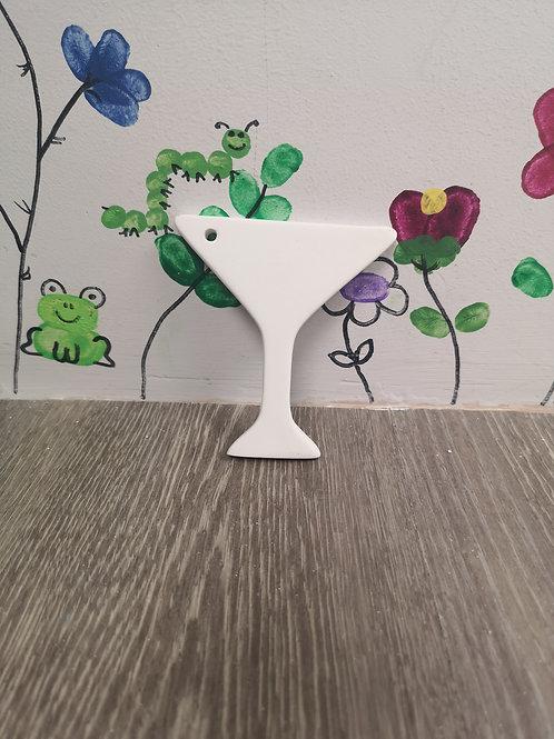 Hanging Martini Glass
