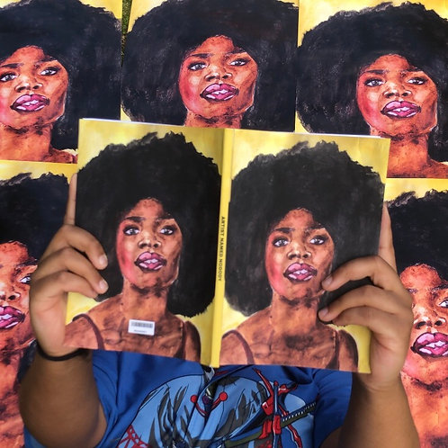 AFRO BLUE I Softcover Notebook