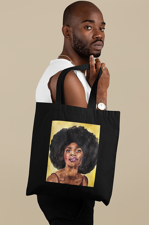 AFRO BLUE I Organic Cotton Tote Bag