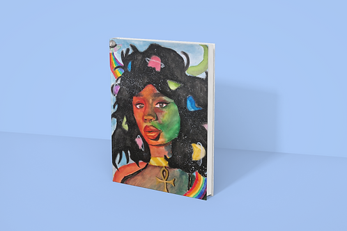 SPACEGIRL I Softcover Notebook
