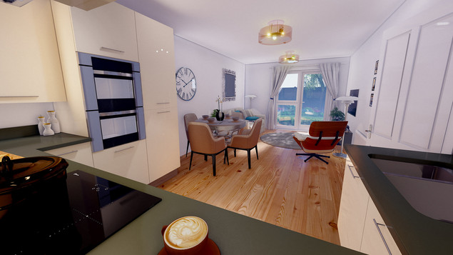 THE BEECHES CGI_LOUNGE KITCHEN DINING VI