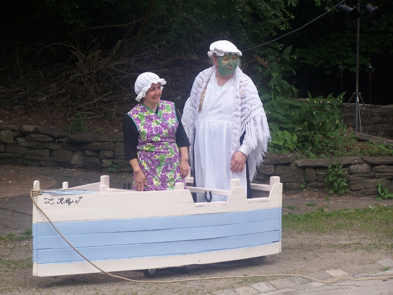"""""""You can travel on my barge, Mother"""""""