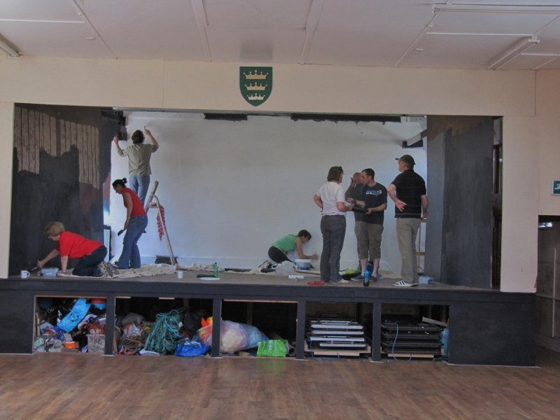 St Anne's - painting the stage