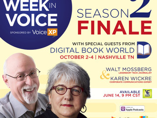 This Week In Voice podcast concludes Season 2 with Digital Book World 2018 preview