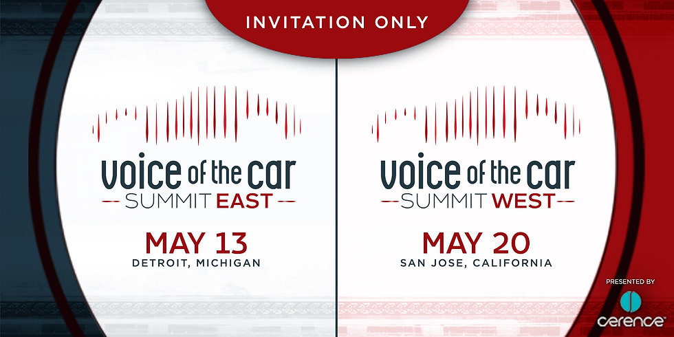 Voice of the Car Summit East : West 2160