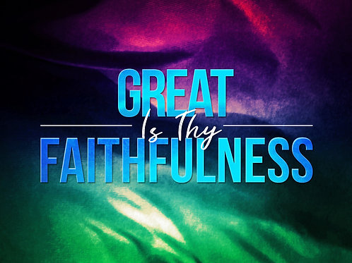 Great Is Thy Faithfulness *Sheet Music* for soprano and piano