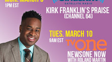 Damien Sneed on Sirius XM Kirk Franklin's Praise, TV One with Roland Martin & TBN's Prai