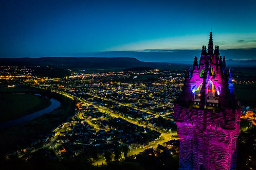 Wallace Monument night