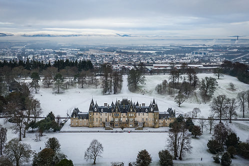Callendar House winter scene