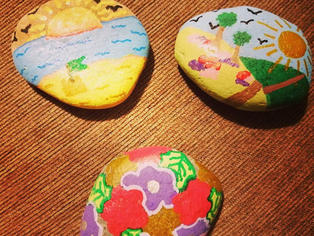 Painted Pebbles for Children to Find