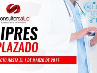 MIPRES APLAZADO - SIGUE EL CTC HASTA EL 1 DE MARZO DE 2017