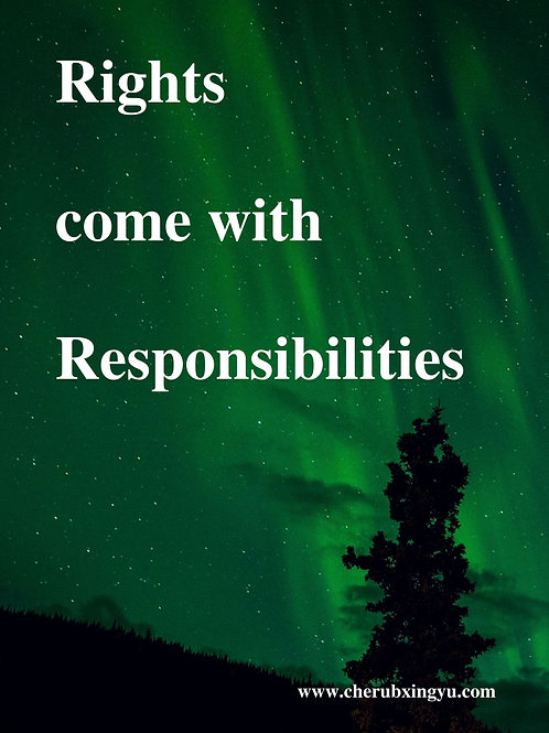 Rights come with responsibilities Quote