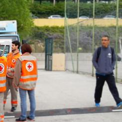 L'équipe de la Croix Rouge, fidèle au poste