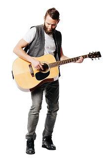 Hipster guitar player