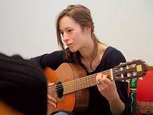 girl guitar student