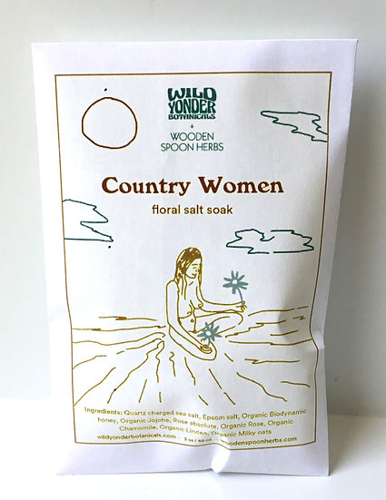 Country Women Floral Salt Soak