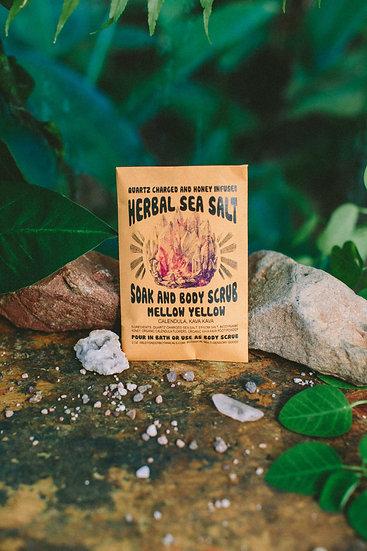 Mellow Yellow Herbal Salt Soak Scrub