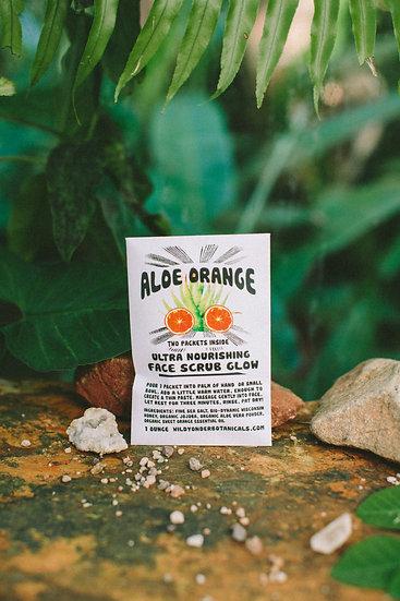 Aloe Orange Face Scrub Glow